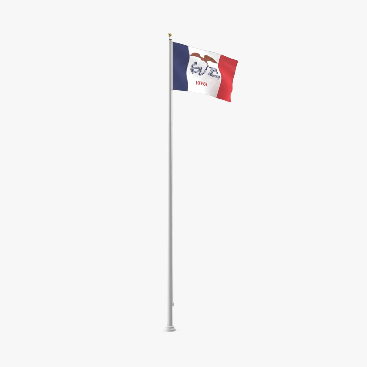 3D model state-flags---iowa