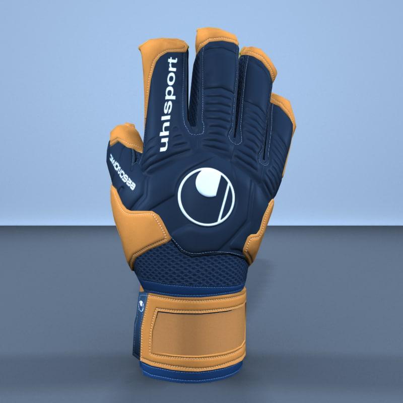keeper glove uhlsport ergonomic 3D model