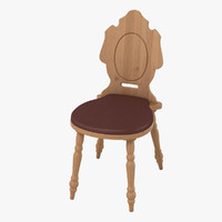 rustic chair 3D model