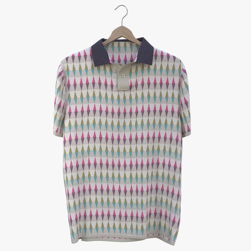 polo shirt 3D