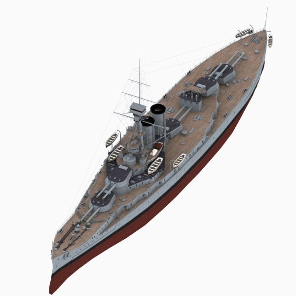 hms erin battleship royal navy 3D model