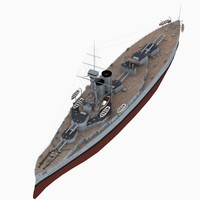 hms erin battleship royal navy 3D model
