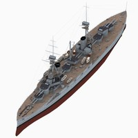 hms agincourt battleship royal navy 3D model
