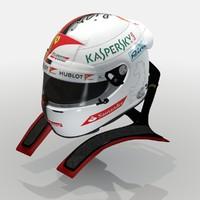 sebastian vettel 2017 helmet 3D