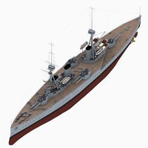 invincible class battlecruiser royal navy 3D model