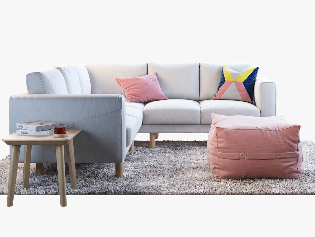 IKEA NORSBORG corner sofa 2+2