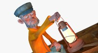 fisherman fisher 3D model