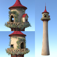 3D tower cartoon fairy