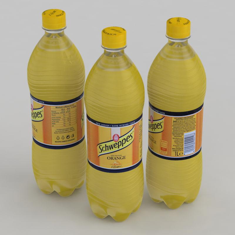 schweppes orange beverage 3D model