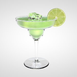 3D margarita glass