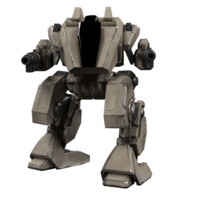 3D model battle mech