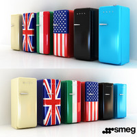 smeg size refrigerator 6 3D model
