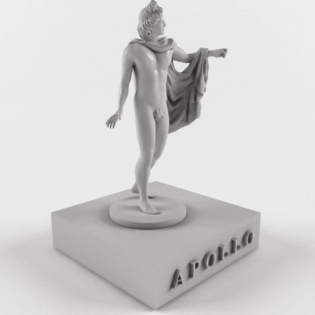 3D ancient mythological greece model