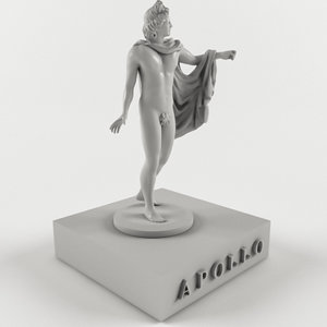3D ancient mythological greece model