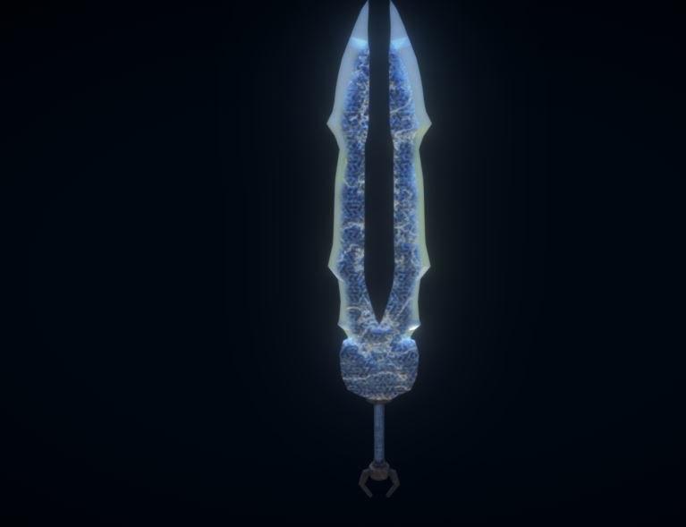 3D model sword ancient titans