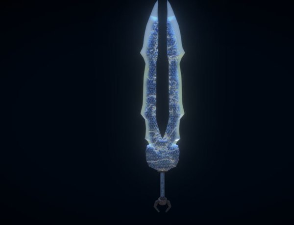 3D model sword ancient titans