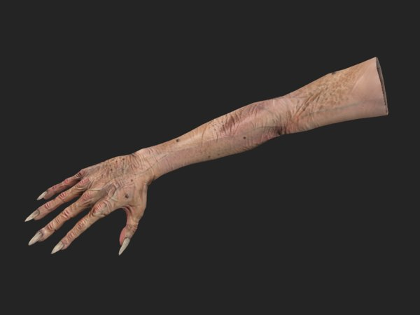 3D hand old man model