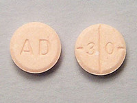 Adderall AD30 pill stamp