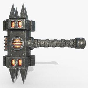 3D metall lava hammer
