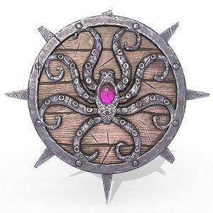 shield octopus 3D model