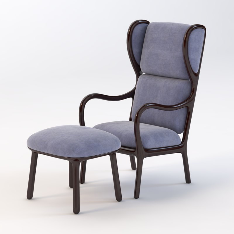 realistic photoreal chair 3D