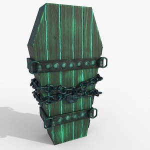 3D model powerful coffin