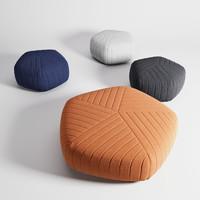3D muuto pouf model