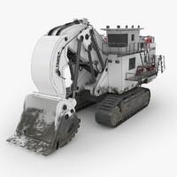 excavator terex rh400 industrial 3D