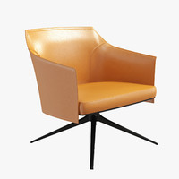 Poliform Stanford chair orange leather
