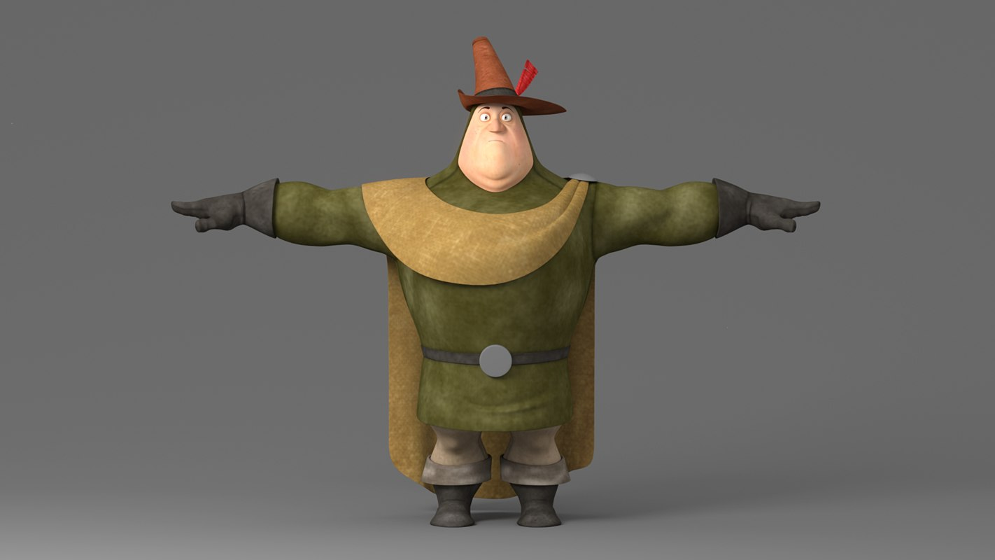 3D cartoon fat man