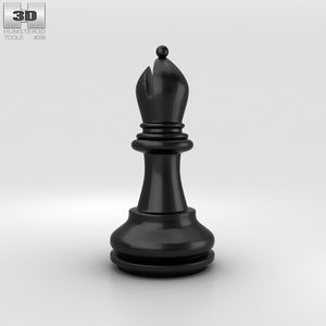 3D chess bishop classic