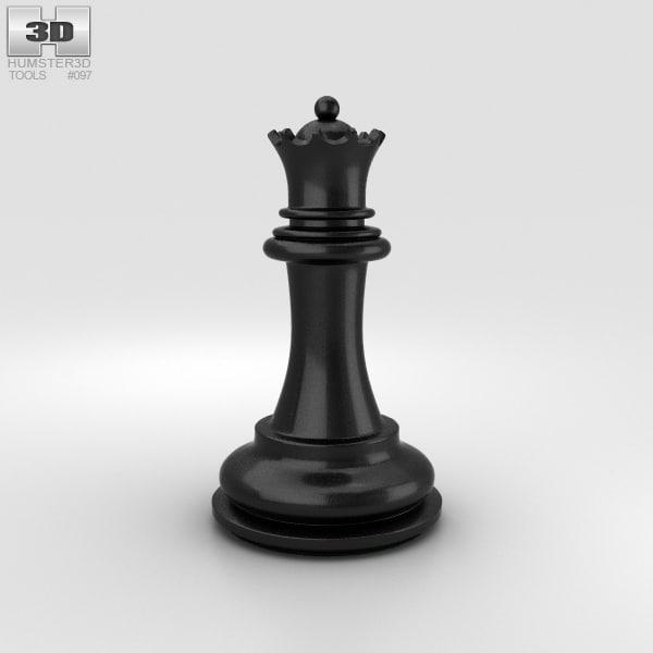chess queen classic 3D model