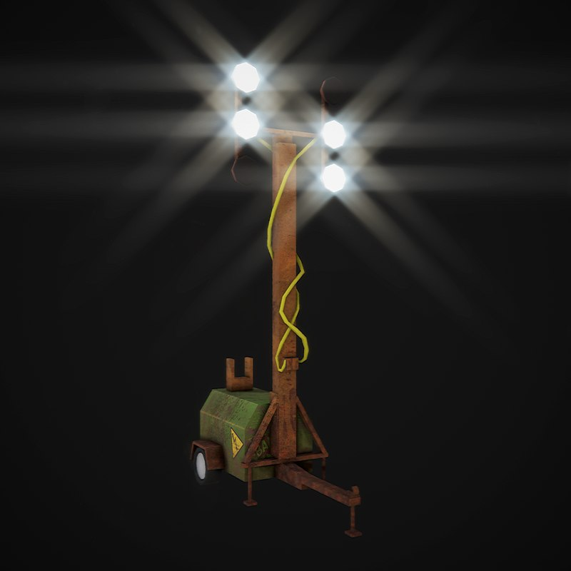 mobile light tower 3D model