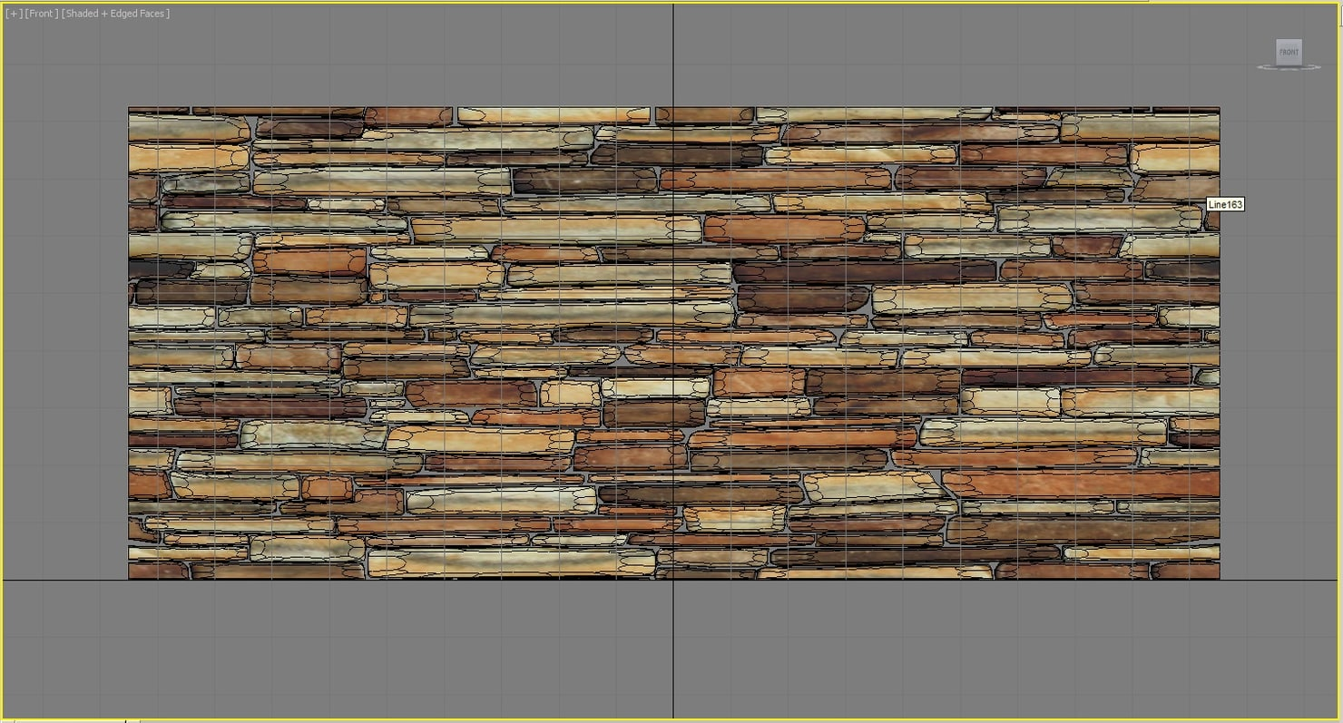 3D tilable stone wall