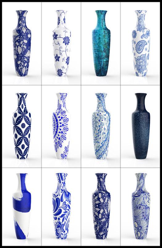 3D model porcelain vase
