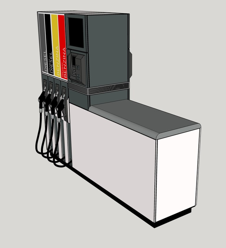 tokheim fuel dispenser 3D model