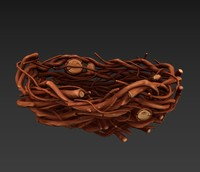 nest stylized cartoon 3D