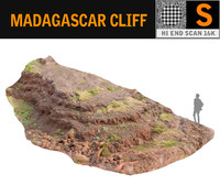 3D madagascar cliff rock model