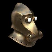 steampunk helmet 3D