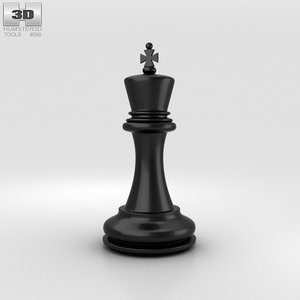 3D chess king classic