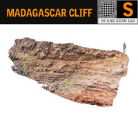 3D madagascar cliff rock 16k model