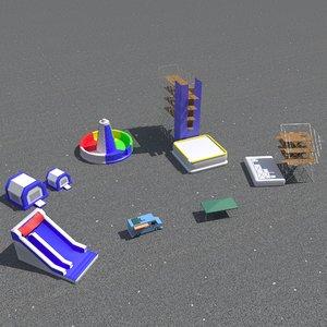 set inflatable 3D model