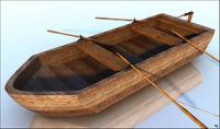 boat wood rowboat model