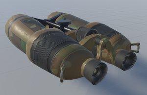 3D binoculars pbr model