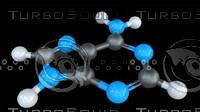 3D adenine nucleobase dna model