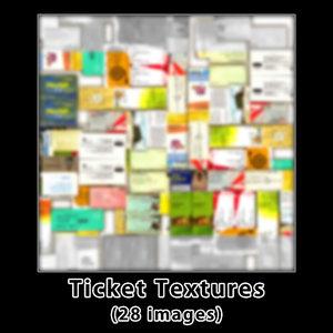 Ticket Textures Set (28 Images)