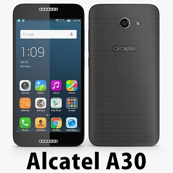 alcatel a30 3 3D model