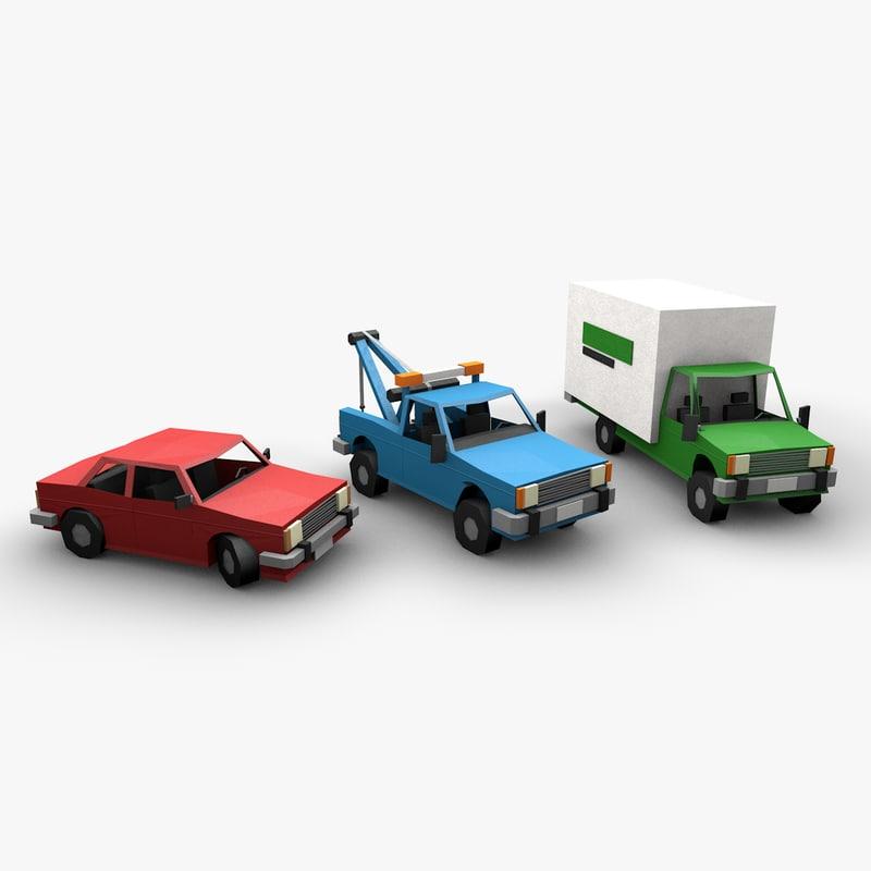 3D papercraft vehicles model