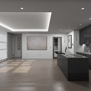 Living Room Kitchen Interior