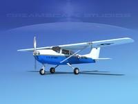 propellers cessna mescalero 3D model